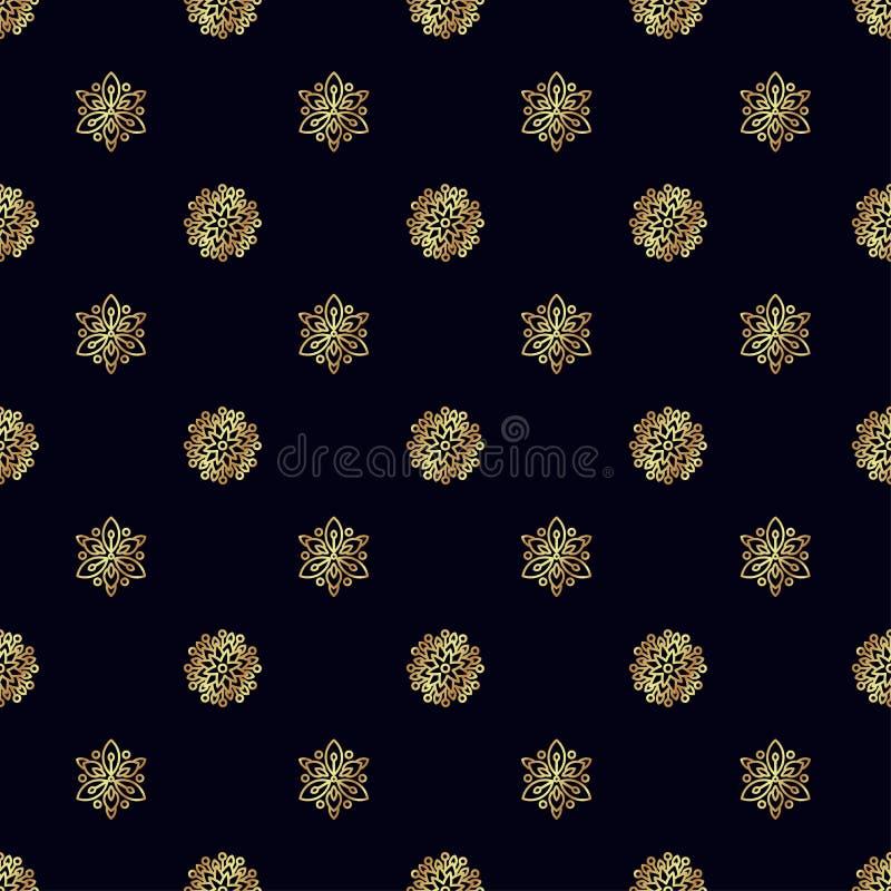 Naadloos patroon met gouden Bij vector illustratie