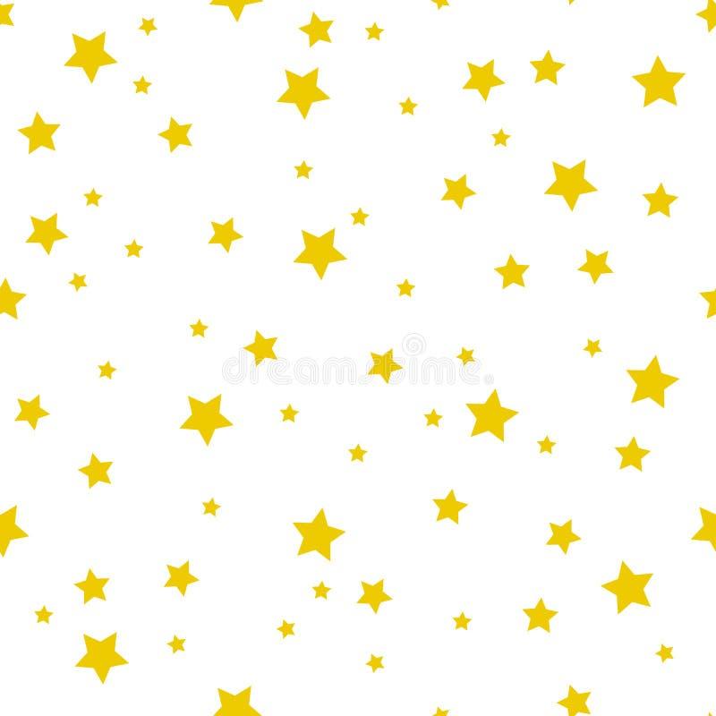 Naadloos patroon met gouden sterren Vector illustratie stock illustratie