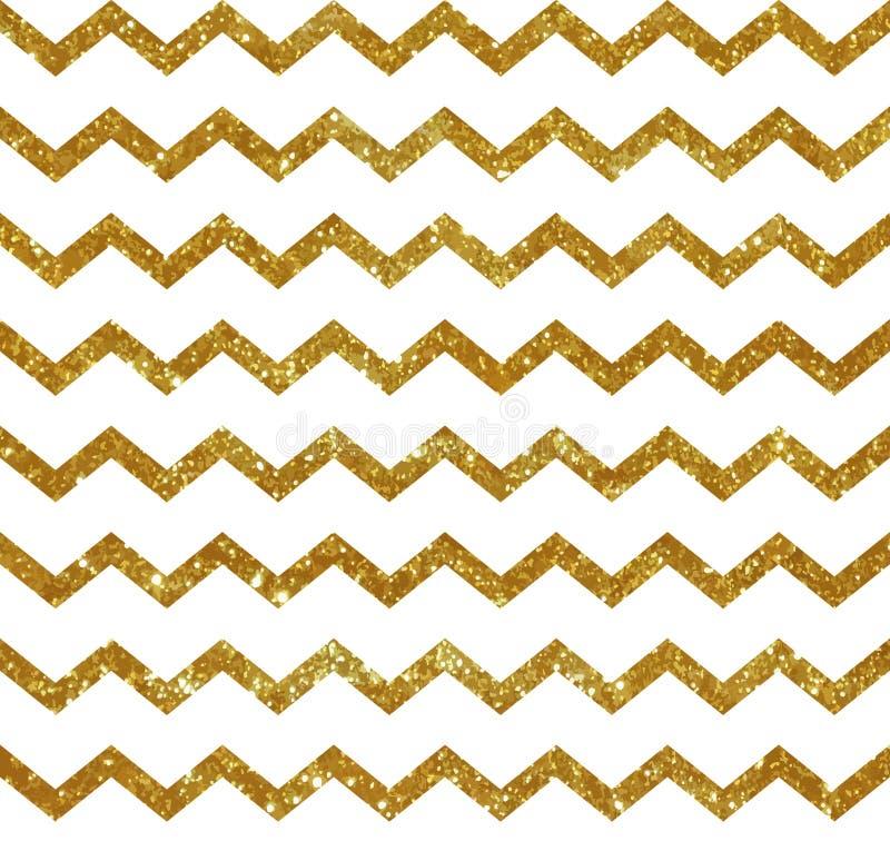 Naadloos patroon met gouden strepen vector illustratie