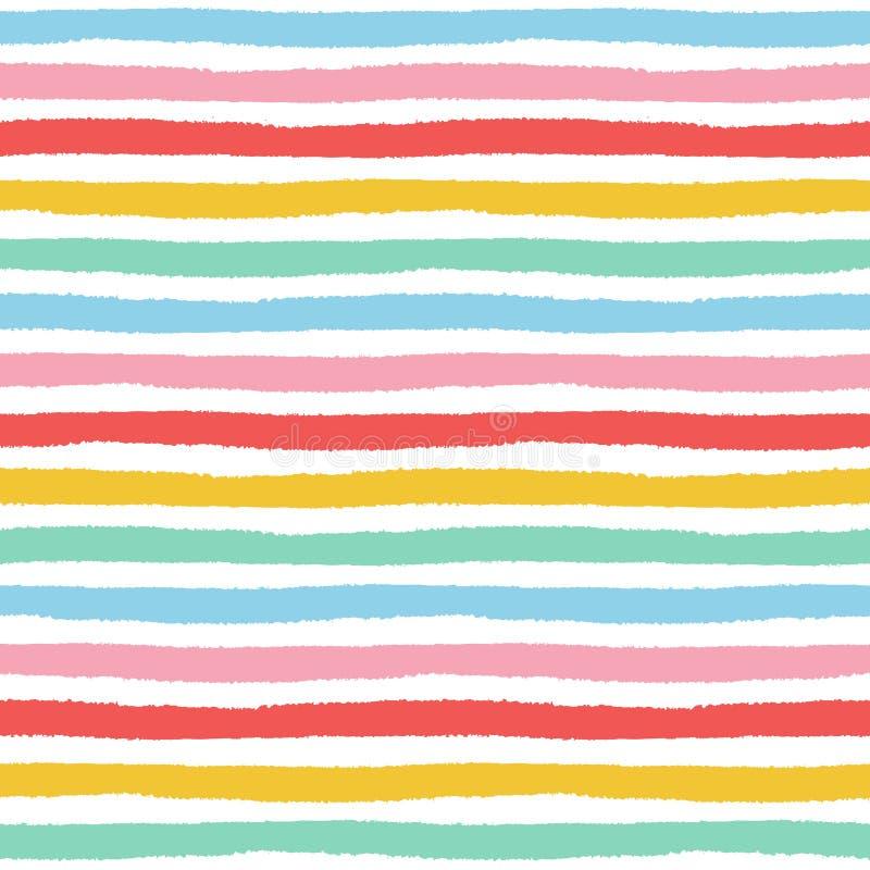 Naadloos patroon met hand geschilderde borstelslagen stock illustratie