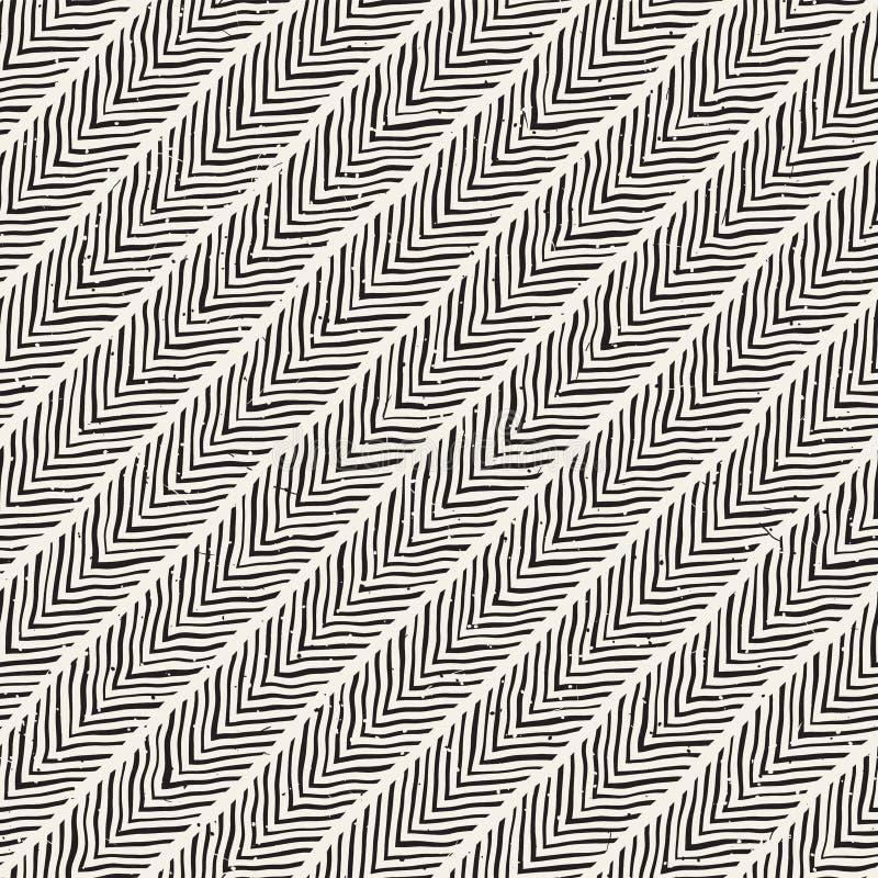 Naadloos patroon met hand getrokken borstelslagen De illustratie van de inktkrabbel grunge Geometrisch Vectorpatroon stock afbeeldingen
