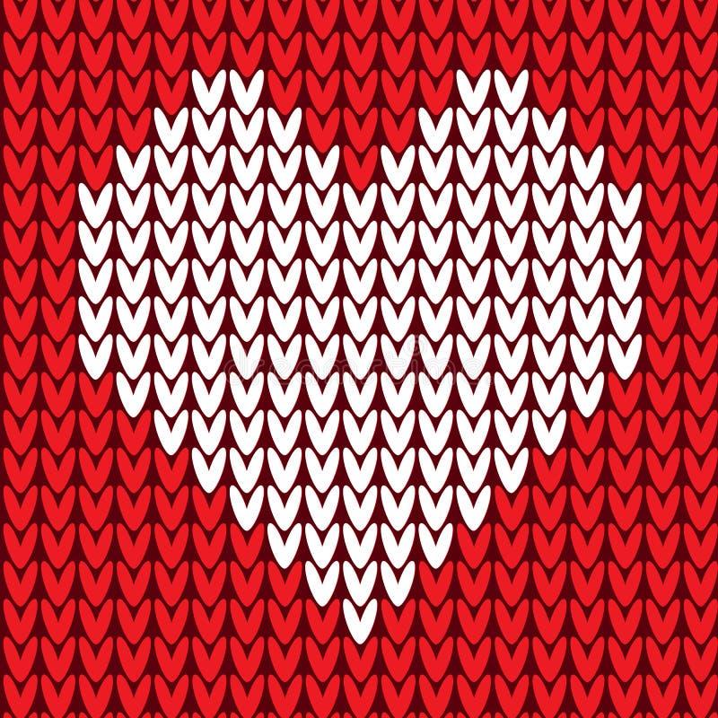 Naadloos patroon met hart stock illustratie