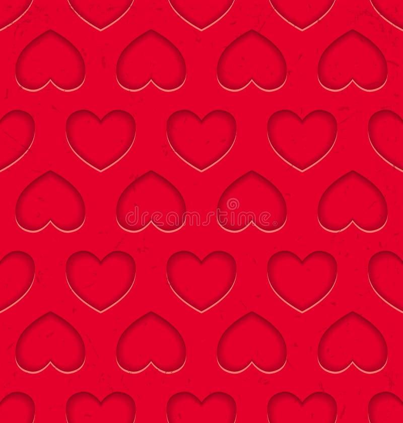Naadloos patroon met harten stock illustratie
