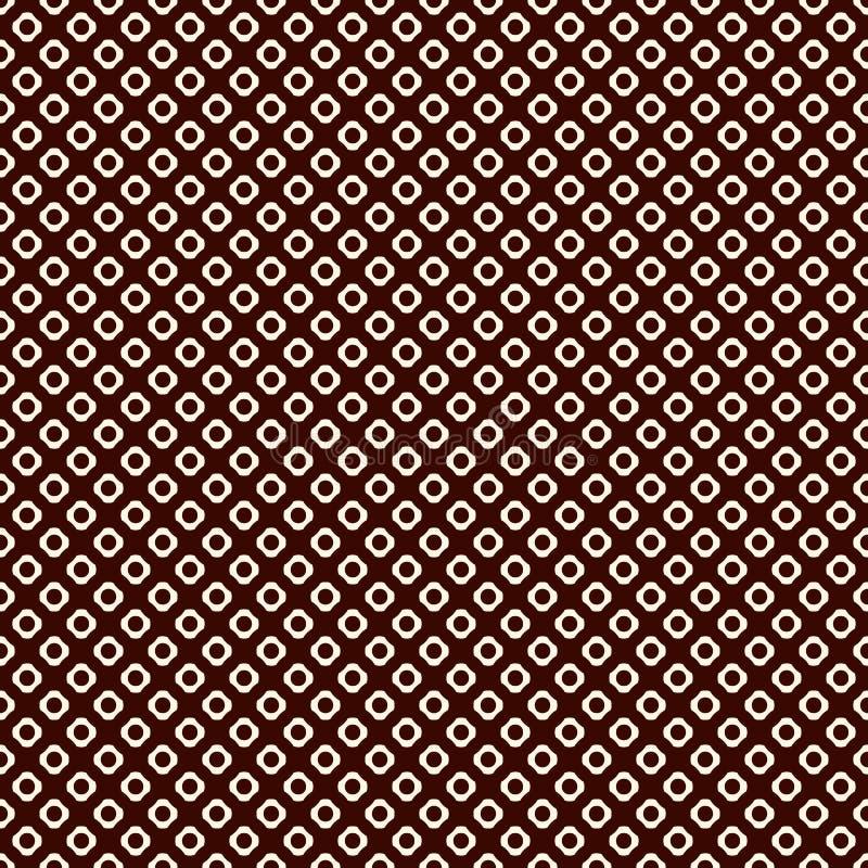 Naadloos patroon met herhaalde cirkels Het motief van de hexuitdraainoot Geometrische abstracte achtergrond De moderne textuur va royalty-vrije illustratie