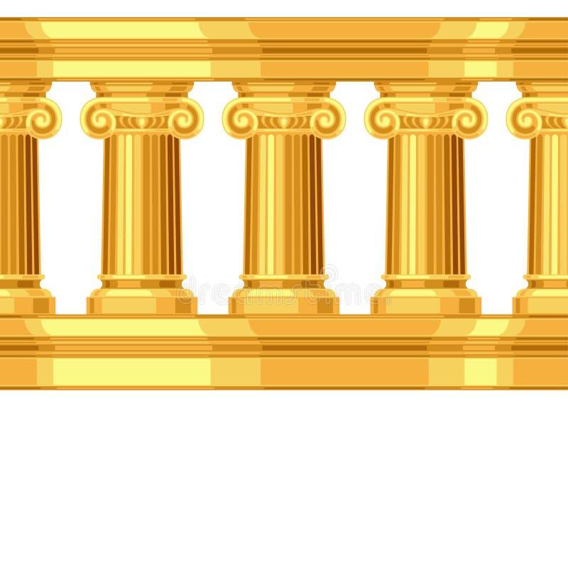 Naadloos patroon met het Ionische antieke Grieks royalty-vrije illustratie