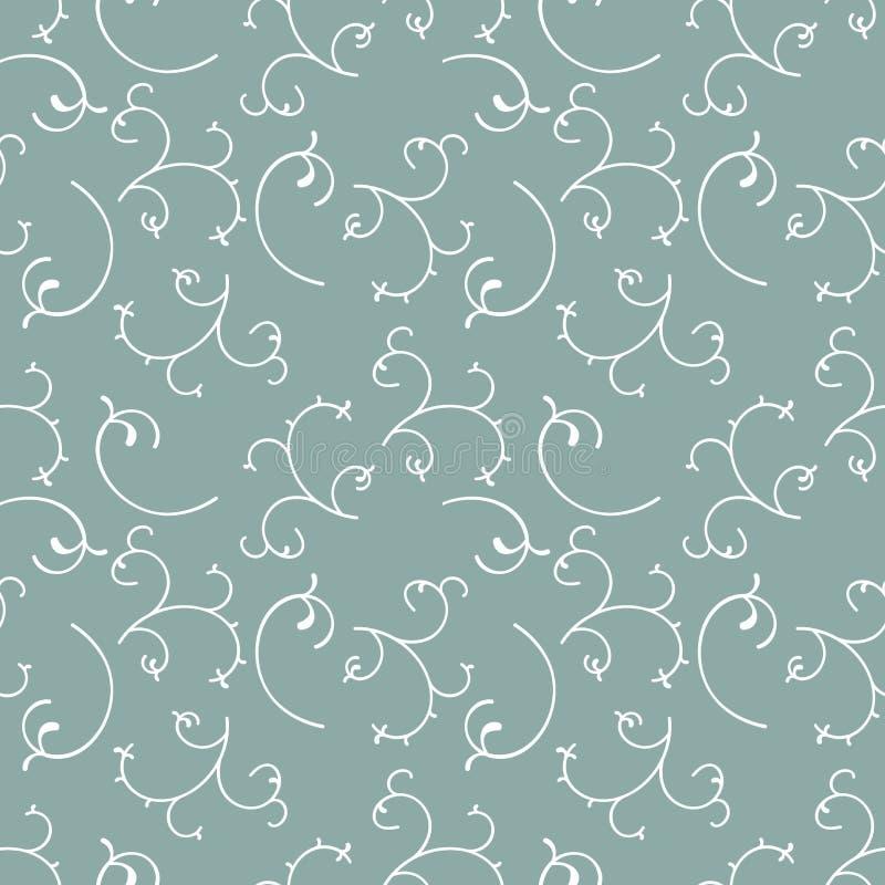 Naadloos patroon met installatieelementen Achtergrond met takken met bladeren stock illustratie