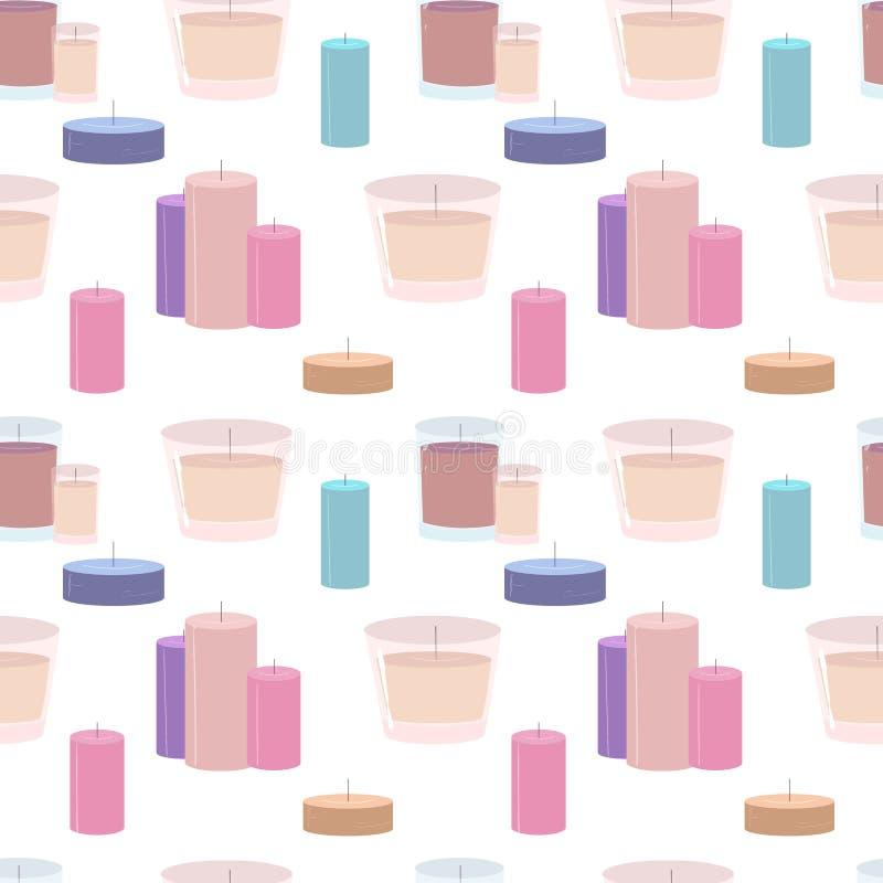 Naadloos patroon met kaarsen vector illustratie