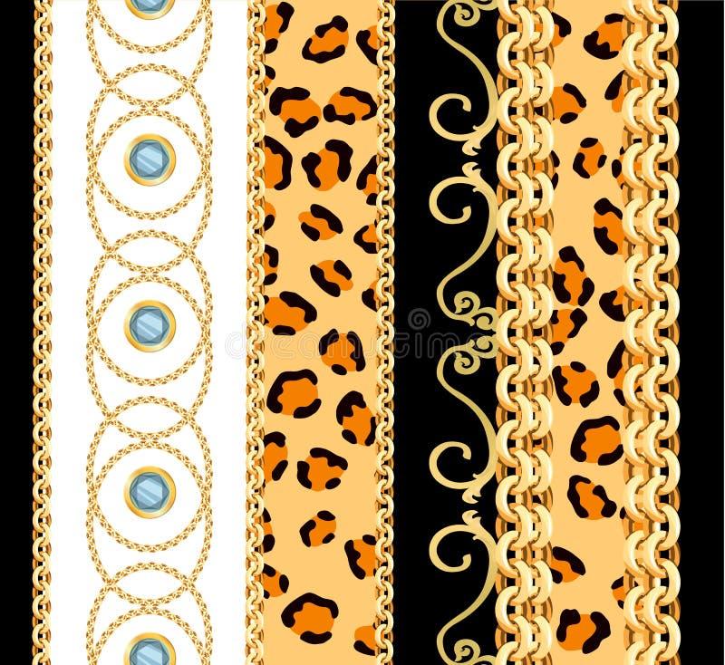 Naadloos patroon met kettingen vector illustratie