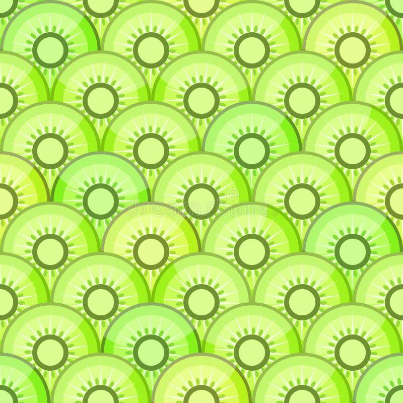 Naadloos patroon met kiwi royalty-vrije illustratie