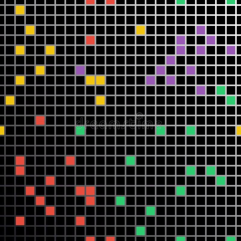 Naadloos Patroon met kleine gekleurde vierkanten vector illustratie
