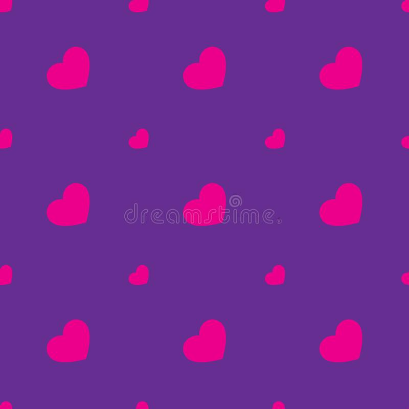 Naadloos patroon met kleine harten stock illustratie