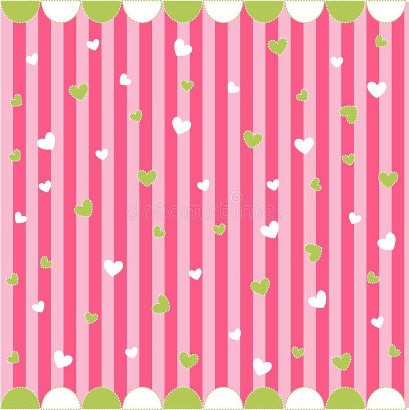 Naadloos patroon met kleine harten vector illustratie