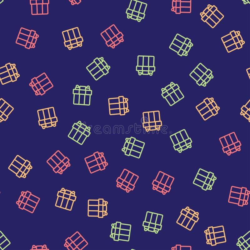 Naadloos patroon met kleurrijke giftdozen stock illustratie