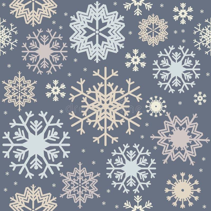 Naadloos patroon met kleurrijke sneeuwvlokken royalty-vrije illustratie