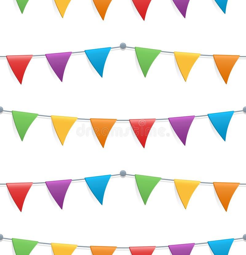 Naadloos patroon met kleurrijke vlaggen stock foto's