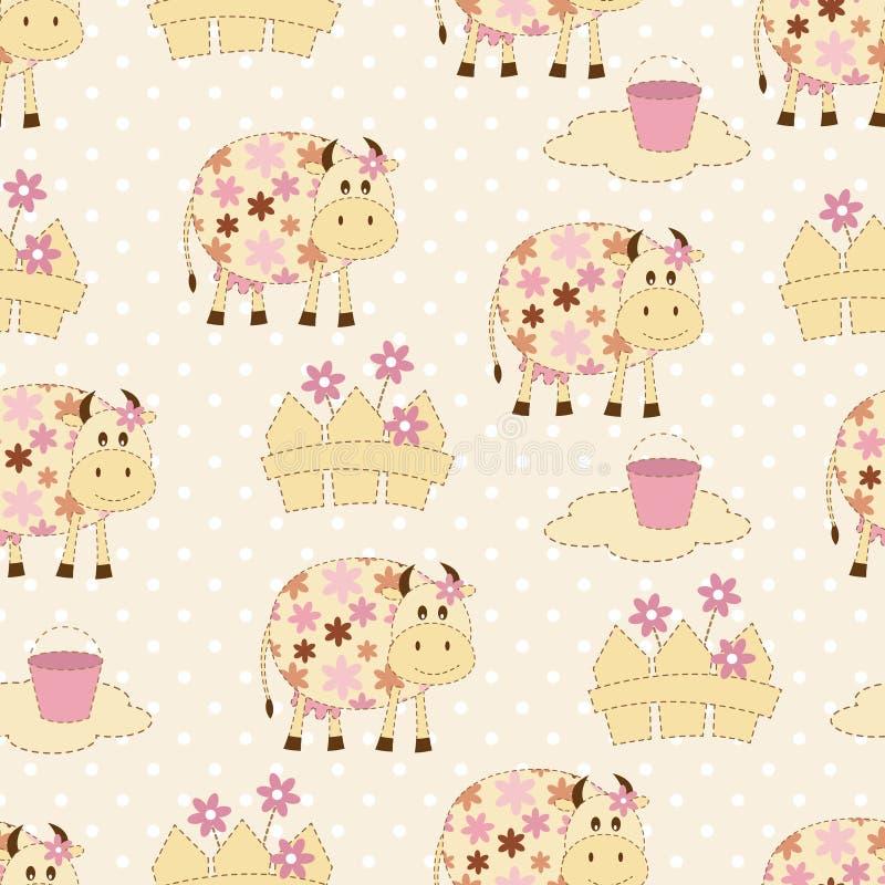 Naadloos patroon met koeien vector illustratie