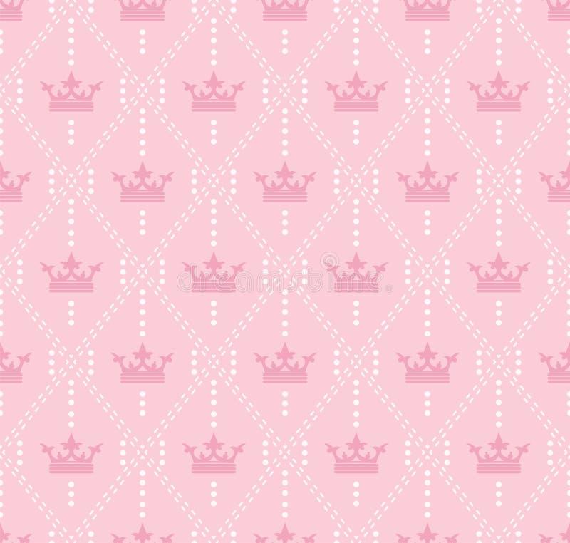 Naadloos patroon met kronen vector illustratie