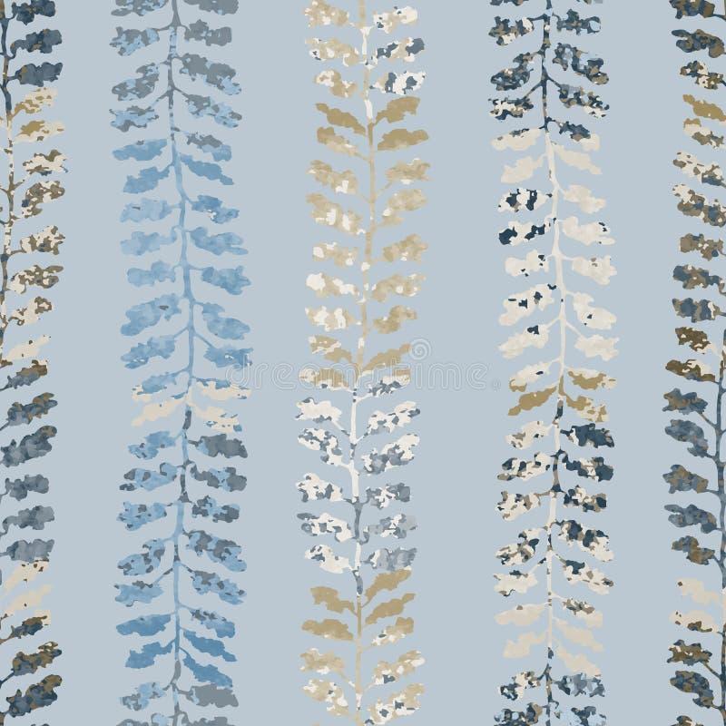 Naadloos patroon met kruiden, gebladerte, installaties royalty-vrije illustratie
