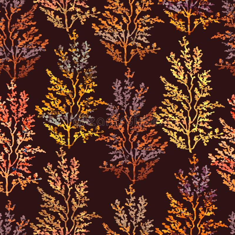 Naadloos patroon met kruiden, installaties royalty-vrije illustratie