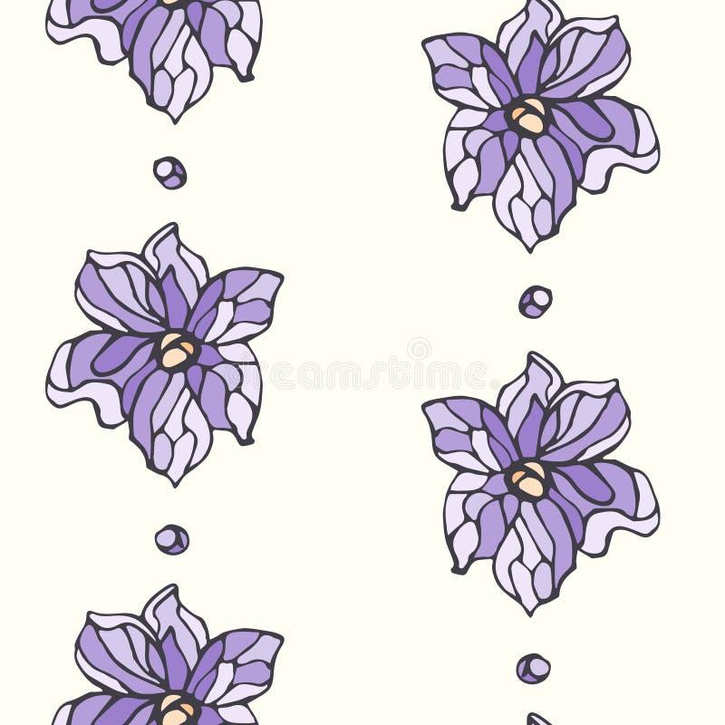 Naadloos patroon met lavendelbloemen vector illustratie