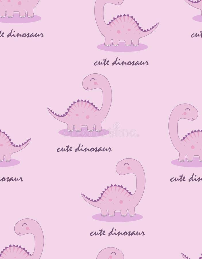 Naadloos patroon met leuke Dino vector illustratie