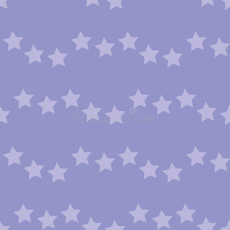 Naadloos patroon met lilac sterren op violette achtergrond voor vleid, stof, textiel, kleding, kaarten, postkaarten, plakboekpapi royalty-vrije illustratie