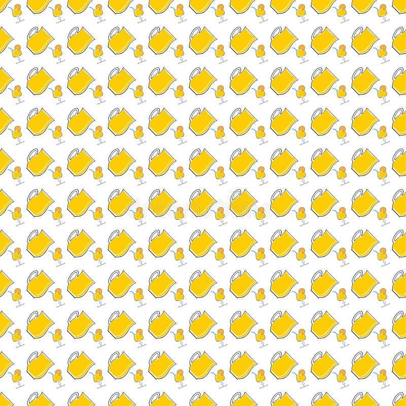 Naadloos patroon met limonade in waterkruik en glas van cocktail stock illustratie