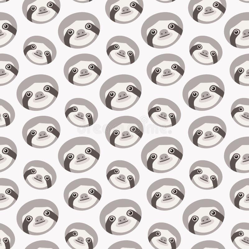 Naadloos patroon met luiaarden vector illustratie