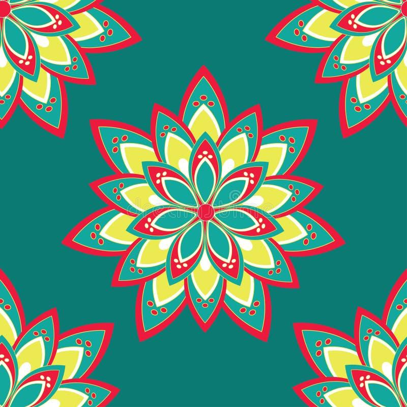 Naadloos patroon met mandala stock foto