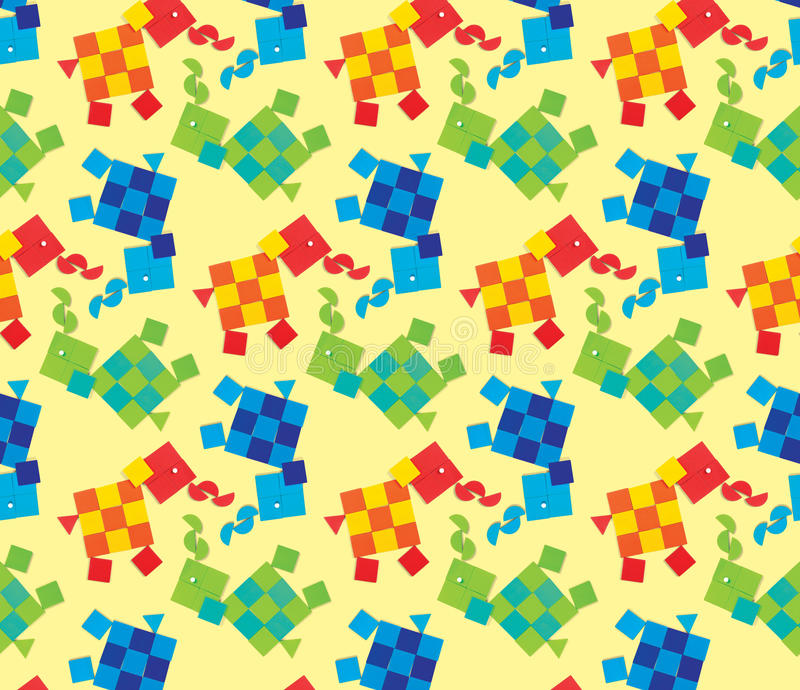 Naadloos patroon met olifanten vector illustratie