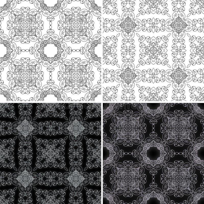 Naadloos patroon met ornamenten vector illustratie
