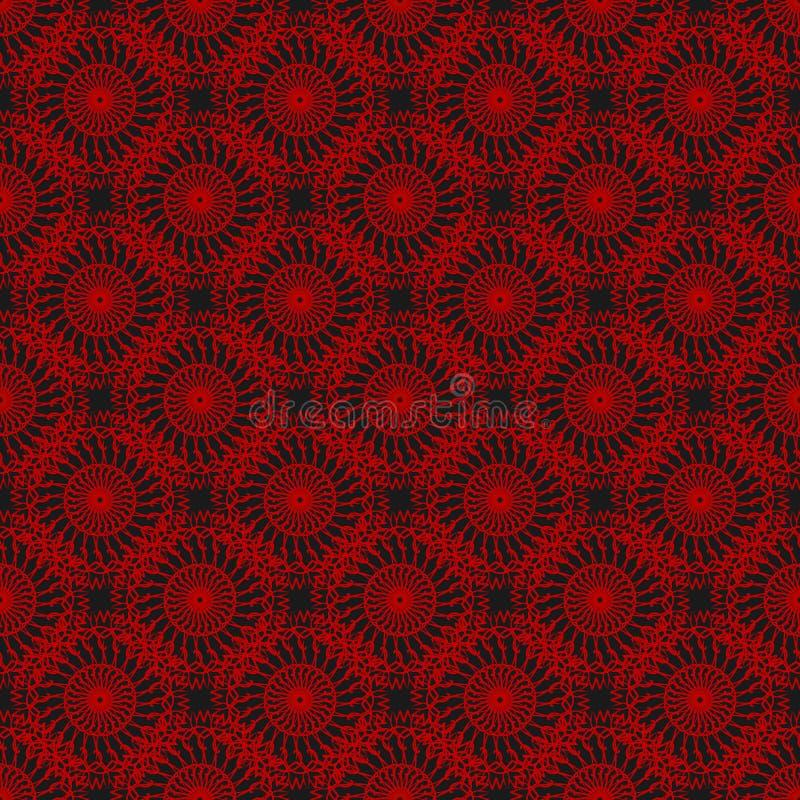 Naadloos patroon met ornamenten Elementen voor ontwerp en decoratie stock afbeelding