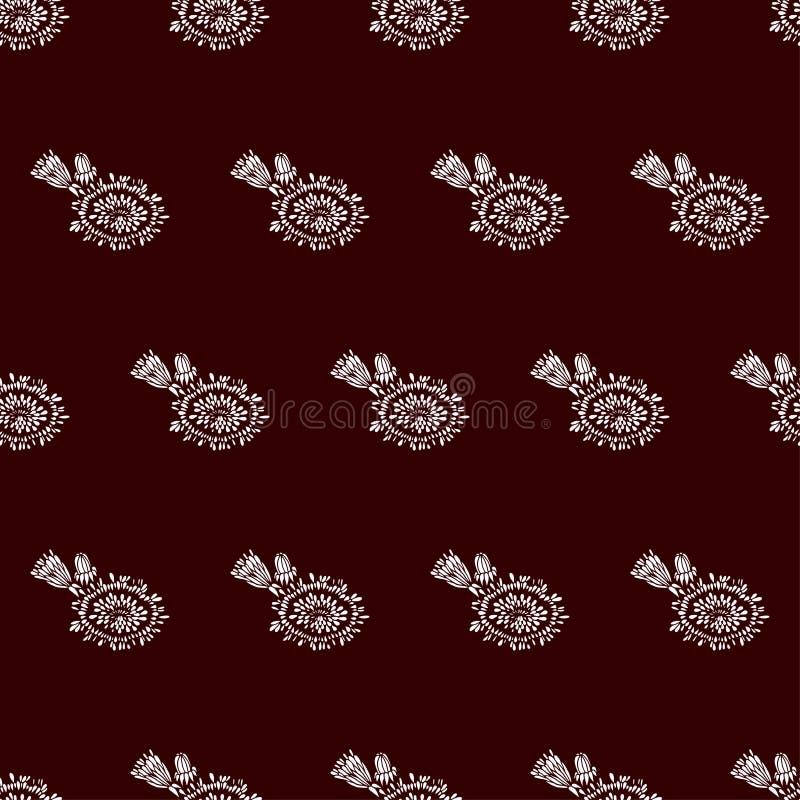 Naadloos patroon met paardebloemen Ontwerp voor textiel, decor, stof, behang Het kan voor prestaties van het ontwerpwerk noodzake royalty-vrije illustratie