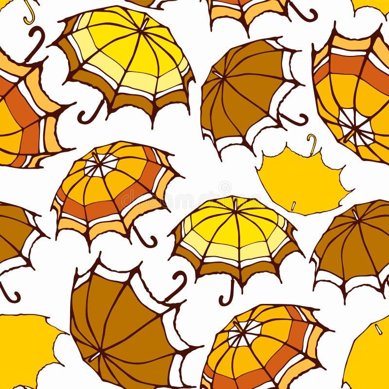 Naadloos patroon met paraplu's vector illustratie