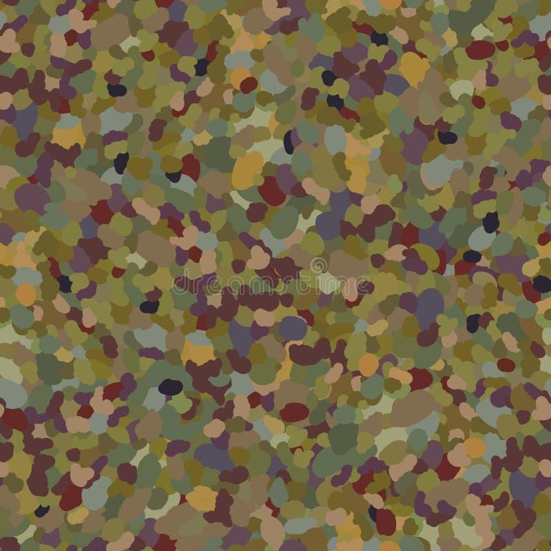 Naadloos patroon met plonsen van verf Kaki vlekken en vlekken van kleur stock illustratie
