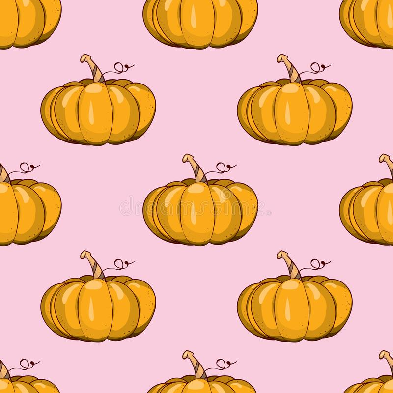 Naadloos patroon met pompoenen vector illustratie