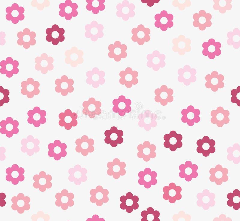 Naadloos patroon met roze bloemen royalty-vrije illustratie