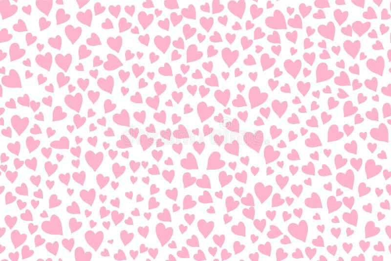 Naadloos patroon met roze harten vector illustratie