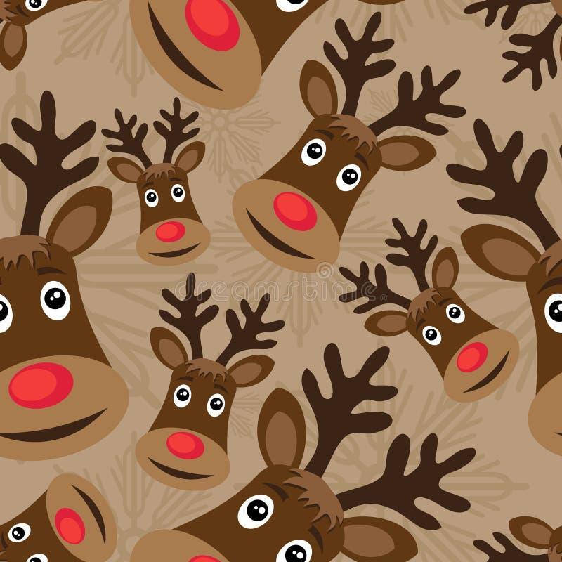 Naadloos patroon met Rudolph royalty-vrije illustratie