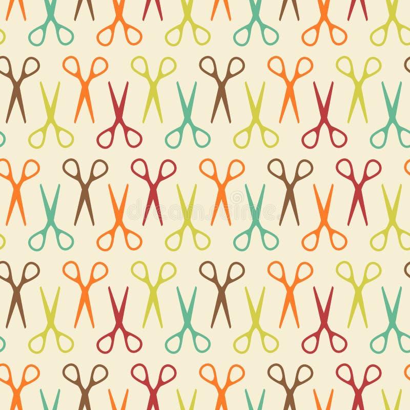 Naadloos patroon met schaar stock illustratie