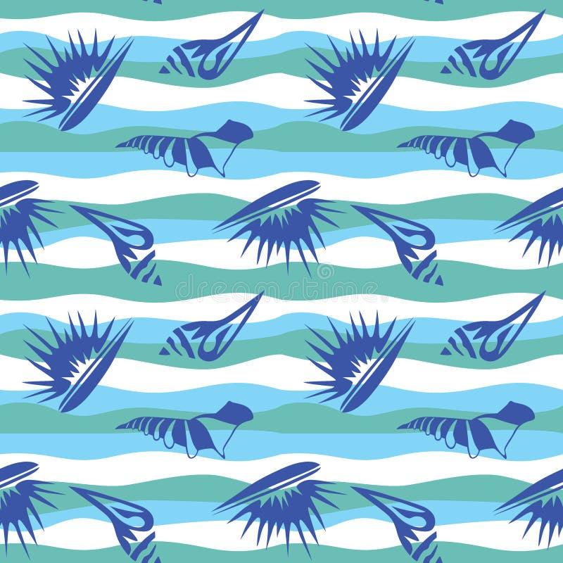 Download Naadloos patroon met shell vector illustratie. Illustratie bestaande uit kleurrijk - 39103143