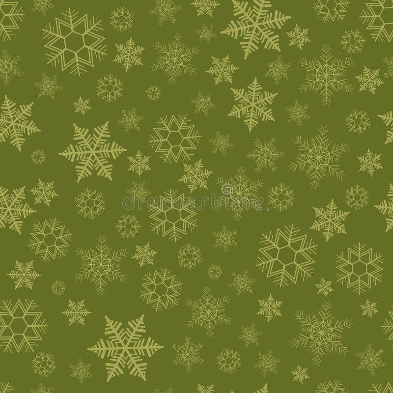 Naadloos patroon met sneeuwvlokken royalty-vrije illustratie