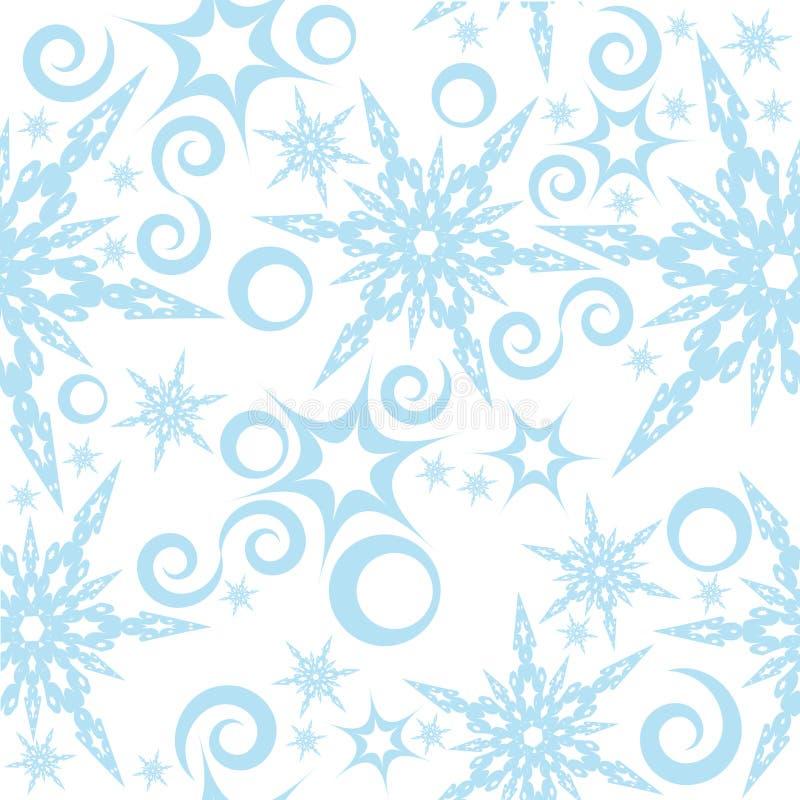 Naadloos patroon met sneeuwvlokken 2 royalty-vrije illustratie