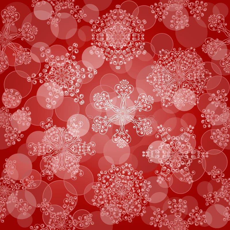 Naadloos Patroon Met Sneeuwvlokken Stock Afbeeldingen
