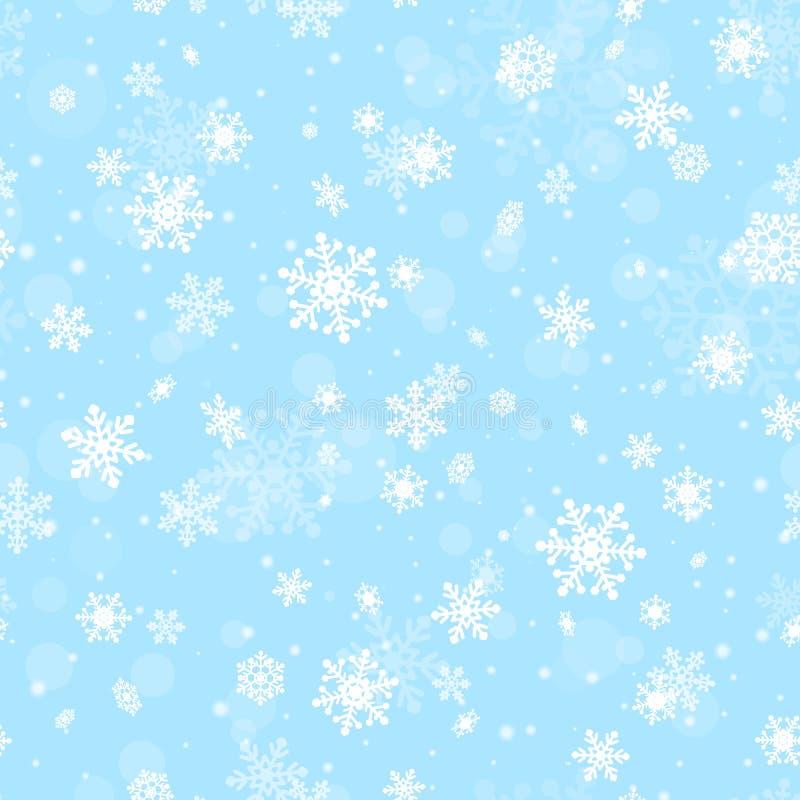 Naadloos patroon met sneeuwvlokken stock illustratie