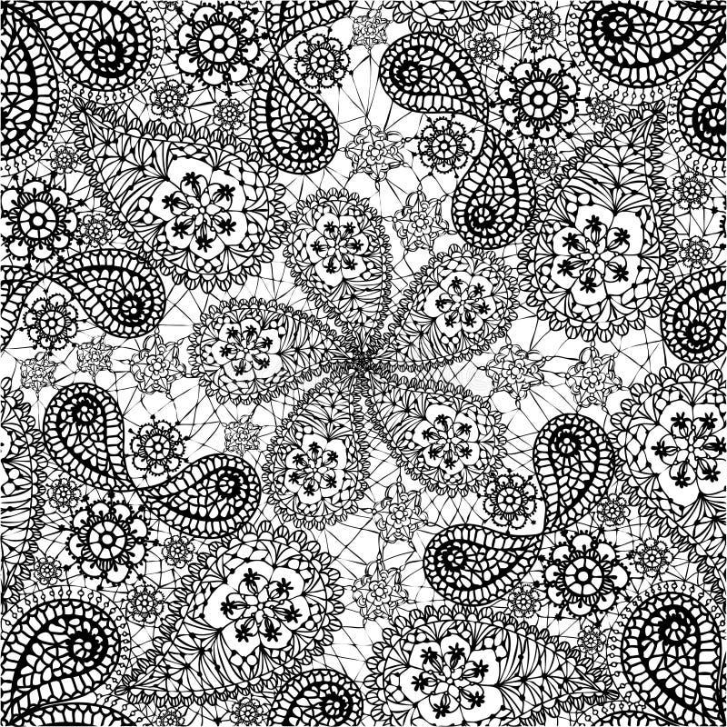 Naadloos patroon met sneeuwvlokken en komkommers stock illustratie