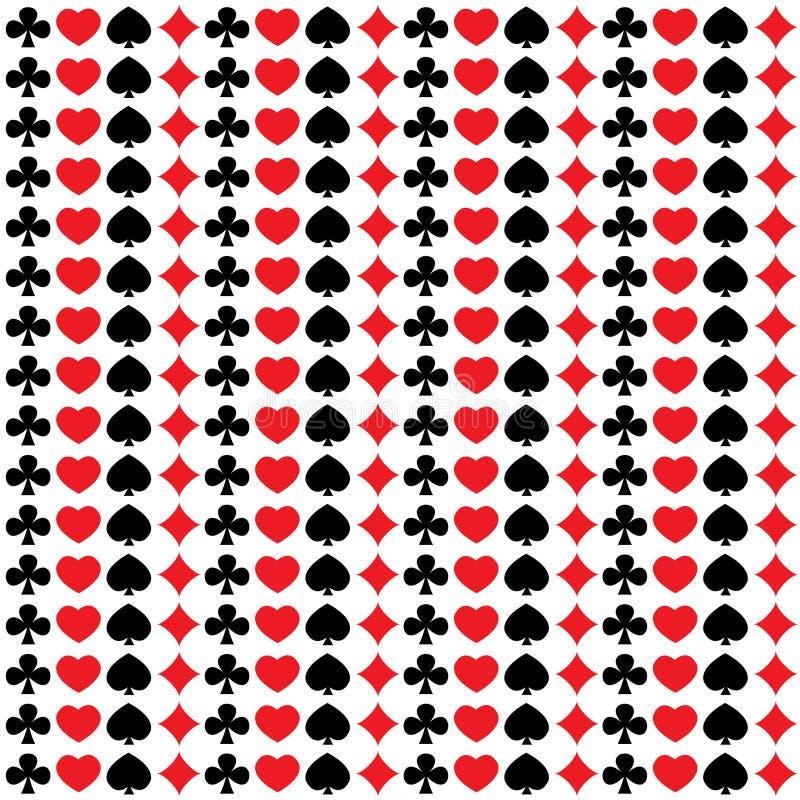 Naadloos patroon met speelkaartkostuums royalty-vrije illustratie