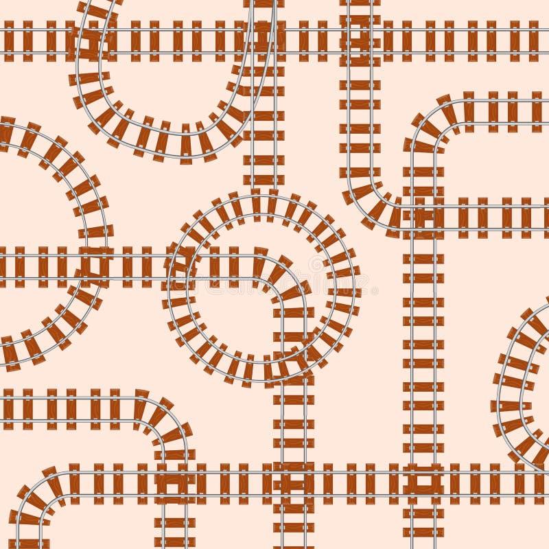 Naadloos patroon met sporen vector illustratie
