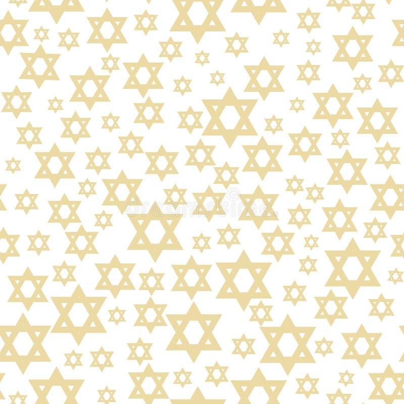 Naadloos patroon met ster van David vector illustratie