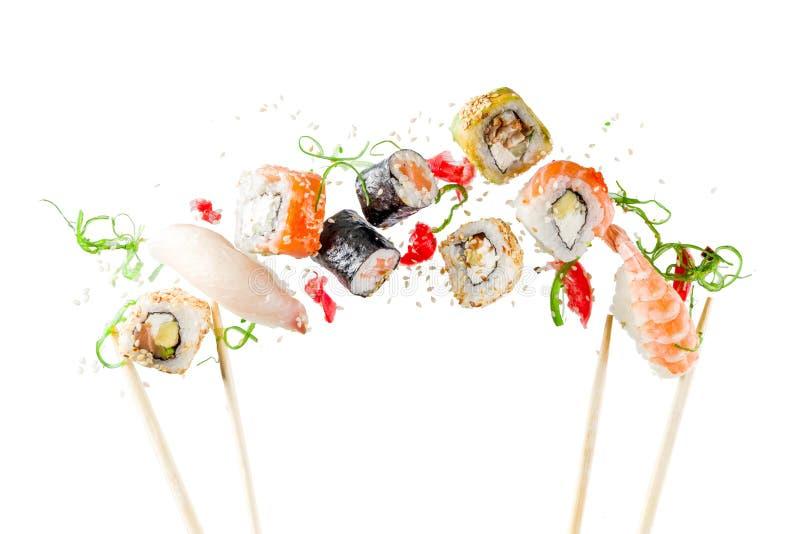 Naadloos patroon met sushi stock afbeeldingen